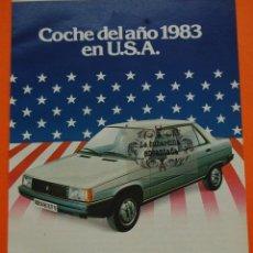 Coches y Motocicletas: PUBLICIDAD 1983 - COLECCION COCHES - RENAULT - 9 COCHE DEL AÑO 1983 EN USA. Lote 46603696