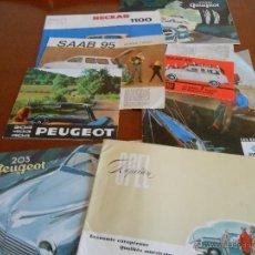Coches y Motocicletas: LOTE DE 8 CATALOGOS COCHE DIFERENTES EN FRANCES - COCHES AÑOS 50-60. Lote 46682725