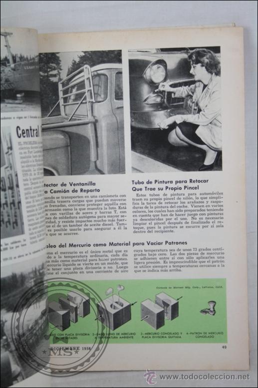 Coches y Motocicletas: Revista Mecánica Popular - Diciembre 1958 - Cosechas Atómicas, Especial Casas, Buick, Cadillac... - Foto 3 - 46687076