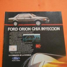 Coches y Motocicletas: PUBLICIDAD 1986 - COLECCION COCHES - FORD - ORION GHIA INYECCION 10 º ANIVERSARIO FORD ESPAÑA. Lote 46718488