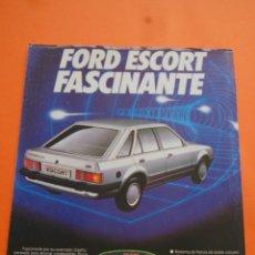 Coches y Motocicletas: PUBLICIDAD 1985 - COLECCION COCHES - FORD - ESCORT. Lote 46718641