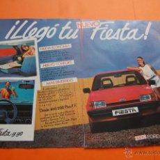 Coches y Motocicletas: PUBLICIDAD 1983 - COLECCION COCHES - FORD - NUEVO FIESTA DOBLE PAGINA. Lote 46718666