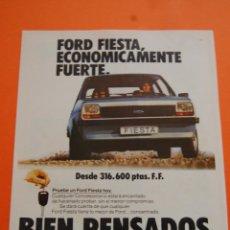 Coches y Motocicletas: PUBLICIDAD 1980 - COLECCION COCHES - FORD - FIESTA . Lote 71484682