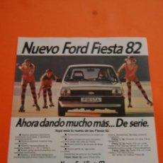 Coches y Motocicletas: PUBLICIDAD 1981 - COLECCION COCHES - FORD - NUEVO FIESTA 82. Lote 71485842