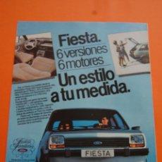 Coches y Motocicletas: PUBLICIDAD 1983 - COLECCION COCHES - FORD - FIESTA 6 VERSIONES 6 MOTORES. Lote 71484907