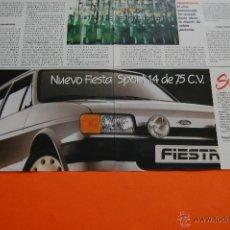 Coches y Motocicletas: PUBLICIDAD 1986 - COLECCION COCHES - FORD - FIESTA SPORT 1.4 75 CV DOBLE PAGINA. Lote 46718722