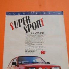 Coches y Motocicletas: PUBLICIDAD 1986 - COLECCION COCHES - FORD - FIESTA SUPER SPORT 1.4 75 CV. Lote 46718728