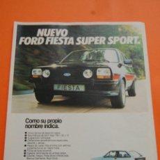 Coches y Motocicletas: PUBLICIDAD 1980 - COLECCION COCHES - FORD - FIESTA SUPER SPORT . Lote 71485030