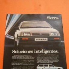 Coches y Motocicletas: PUBLICIDAD 1983 - COLECCION COCHES - FORD - SIERRA . Lote 46718777