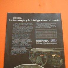Coches y Motocicletas: PUBLICIDAD 1983 - COLECCION COCHES - FORD - SIERRA . Lote 46718782