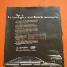 Coches y Motocicletas: PUBLICIDAD 1982 - COLECCION COCHES - FORD - SIERRA . Lote 46718787