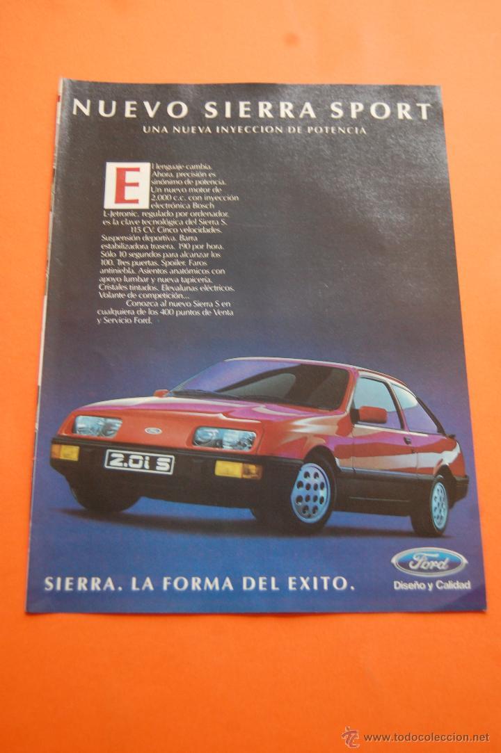 PUBLICIDAD 1985 - COLECCION COCHES - FORD - NUEVO SIERRA SPORT (Coches y Motocicletas Antiguas y Clásicas - Catálogos, Publicidad y Libros de mecánica)