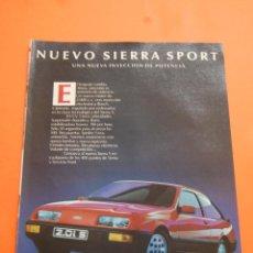 Coches y Motocicletas: PUBLICIDAD 1985 - COLECCION COCHES - FORD - NUEVO SIERRA SPORT. Lote 46718793