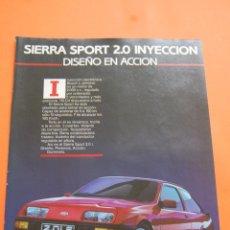 Coches y Motocicletas: PUBLICIDAD 1986 - COLECCION COCHES - FORD - SIERRA SPORT 2.0 INYECCION . Lote 46718809