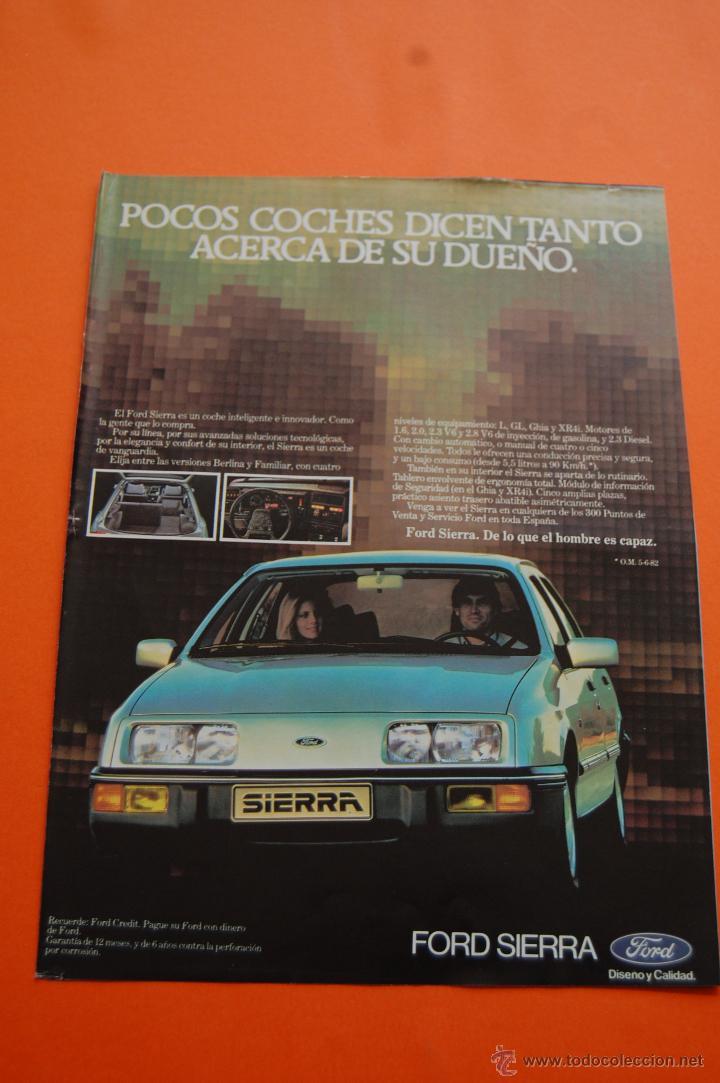 PUBLICIDAD 1983 - COLECCION COCHES - FORD - SIERRA (Coches y Motocicletas Antiguas y Clásicas - Catálogos, Publicidad y Libros de mecánica)