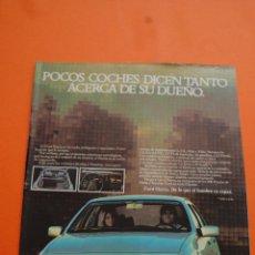 Coches y Motocicletas: PUBLICIDAD 1983 - COLECCION COCHES - FORD - SIERRA. Lote 46718818