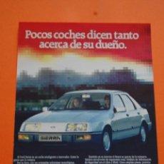 Coches y Motocicletas: PUBLICIDAD 1984 - COLECCION COCHES - FORD - SIERRA. Lote 46718880