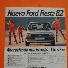 Coches y Motocicletas: PUBLICIDAD 1981 - COLECCION COCHES - FORD - NUEVO FIESTA 82. Lote 46718902