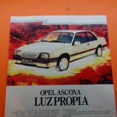 Coches y Motocicletas: PUBLICIDAD 1987 - COLECCION COCHES - OPEL - ASCONA GT. Lote 174028104