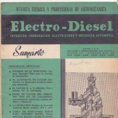 Coches y Motocicletas: AUTO MECANICA AUTOMOVIL ELECTRO DIESEL Nº 2 1960 MERCEDES TIPO O M 325 PEUGEOT 403 ESQUEMA. Lote 46777552