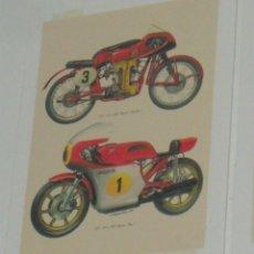 Coches y Motocicletas: CARTEL MOTOCICLETA COMPETICION MV AGUSTA 125 CC Y 500 CC DE 1954 Y 1974. Lote 46797210