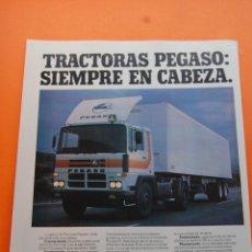 Coches y Motocicletas: PUBLICIDAD 1982 - COLECCION COCHES - PEGASO - PEGASO TRACTORAS 2181. Lote 108736020