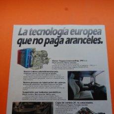 Coches y Motocicletas: PUBLICIDAD 1985 - COLECCION COCHES - PEGASO - PEGASO TECNOLOGIA EUROPEA. Lote 108735955