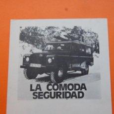 Coches y Motocicletas: PUBLICIDAD 1972 - COLECCION COCHES - LAND ROVER -. Lote 46917669