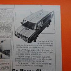 Coches y Motocicletas: PUBLICIDAD 1983 - COLECCION COCHES - LEYLAND - SHERPA. Lote 46917694