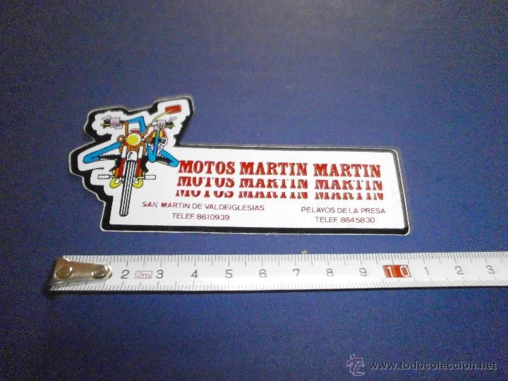 PEGATINA MOTOS MARTIN MARTIN (Coches y Motocicletas Antiguas y Clásicas - Catálogos, Publicidad y Libros de mecánica)