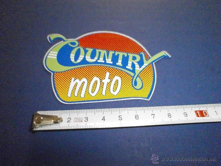 PEGATINA CAUNTRY MOTO (Coches y Motocicletas Antiguas y Clásicas - Catálogos, Publicidad y Libros de mecánica)
