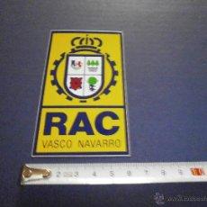 Coches y Motocicletas: PEGATINA RAC VASCO NAVARRO. Lote 46926413