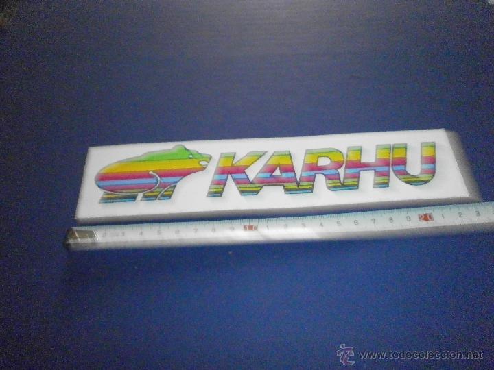 PEGATINA KARHU (Coches y Motocicletas Antiguas y Clásicas - Catálogos, Publicidad y Libros de mecánica)