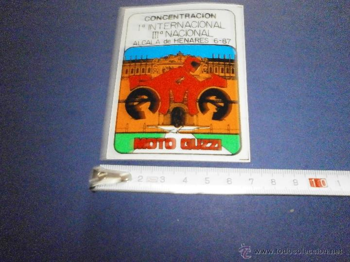 PEGATINA MOTO GUZZI 1º INTERNACIONAL 3ª NACIONAL ALCALA DE HENARES AÑO 87 (Coches y Motocicletas Antiguas y Clásicas - Catálogos, Publicidad y Libros de mecánica)