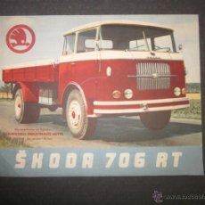 Coches y Motocicletas: CATALOGO SKODA 706 RT - (V- 1647). Lote 46975532