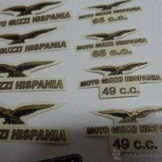 Coches y Motocicletas: MOTO GUZZI HISPANIA 49 C.C. Y 65 C.C. ADHESIVOS. Lote 123515572