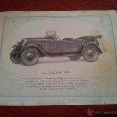 Coches y Motocicletas: PUBICIDAD ORIGINAL CHEVROLET . 1928...FAETON Y ROADSTER. Lote 47321676
