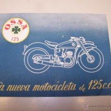 Coches y Motocicletas: FOLLETO OSSA 125, LA NUEVA MOTOCICLETA DE 125 CC.. Lote 47356922