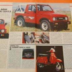 Coches y Motocicletas: ARTICULO 1987 - COLECCION COCHES - SUZUKI SANTANA - SJ413 - 2 PAGINAS. Lote 47357781