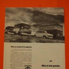 Coches y Motocicletas: PUBLICIDAD 1972 - COLECCION COCHES - BRITISH LEYLAND AUTHI - MINI 850. Lote 48014405