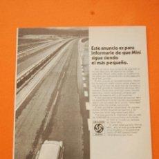 Coches y Motocicletas: PUBLICIDAD 1972 - COLECCION COCHES - LEYLAND AUTHI - MINI 850. Lote 48014389