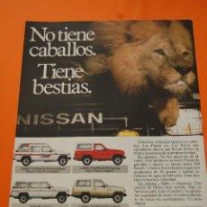 Coches y Motocicletas: PUBLICIDAD 1986 - COLECCION COCHES - NISSAN - PATROL. Lote 47363851