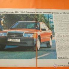 Coches y Motocicletas: PUBLICIDAD 1983 - COLECCION COCHES - MERCEDES BENZ - 190 190E DOBLE PAGINA. Lote 47364465