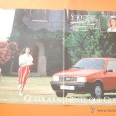 Coches y Motocicletas: PUBLICIDAD 1987 - COLECCION COCHES - LANCIA - Y 10 DOBLE PAGINA. Lote 47365133