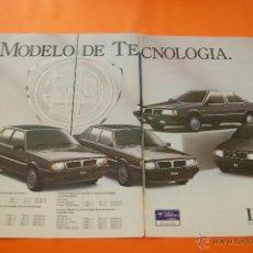 Coches y Motocicletas: PUBLICIDAD 1987 - COLECCION COCHES - LANCIA - Y 10 DELTA PRISMA THEMA DOBLE PAGINA. Lote 47365142