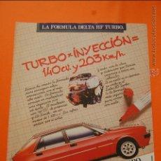 Coches y Motocicletas: PUBLICIDAD 1986 - COLECCION COCHES - LANCIA - DELTA HF TURBO. Lote 47365309
