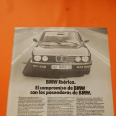 Coches y Motocicletas: PULICIDAD 1982 - COLECCION COCHES - BMW - BMW IBERICA. Lote 47366265