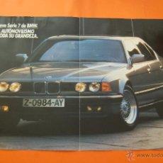 Coches y Motocicletas: PULICIDAD 1986 - COLECCION COCHES - BMW - SERIE 7 DOBLE PAGINA OJO SIN CORTAR. Lote 47366323