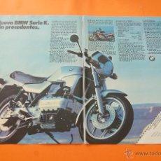 Coches y Motocicletas: PULICIDAD 1983 - COLECCION COCHES - BMW - MOTOS SERIE K DOBLE PAGINA. Lote 47366360
