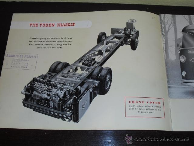 Coches y Motocicletas: FODEN - PASSENGER VEHICLES - CATÁLOGO ORIGINAL - 1962- - Foto 3 - 47366846